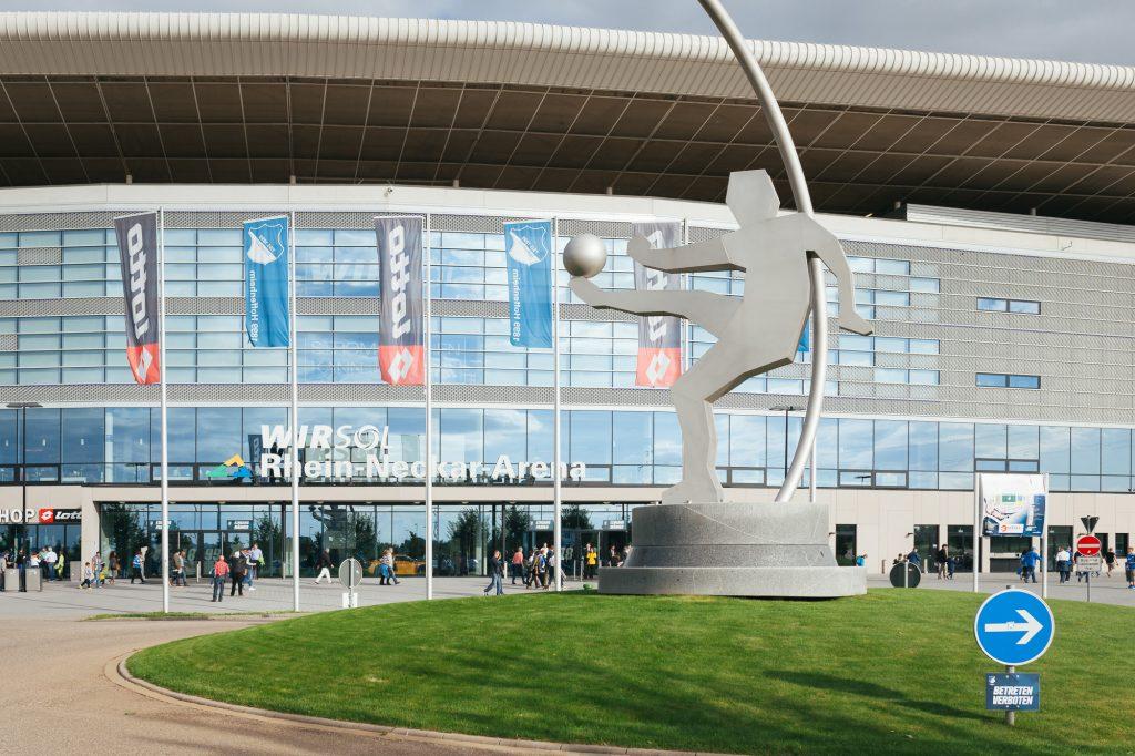 Aussenansicht des Bundesliga-Stadions in Hoffenheims.