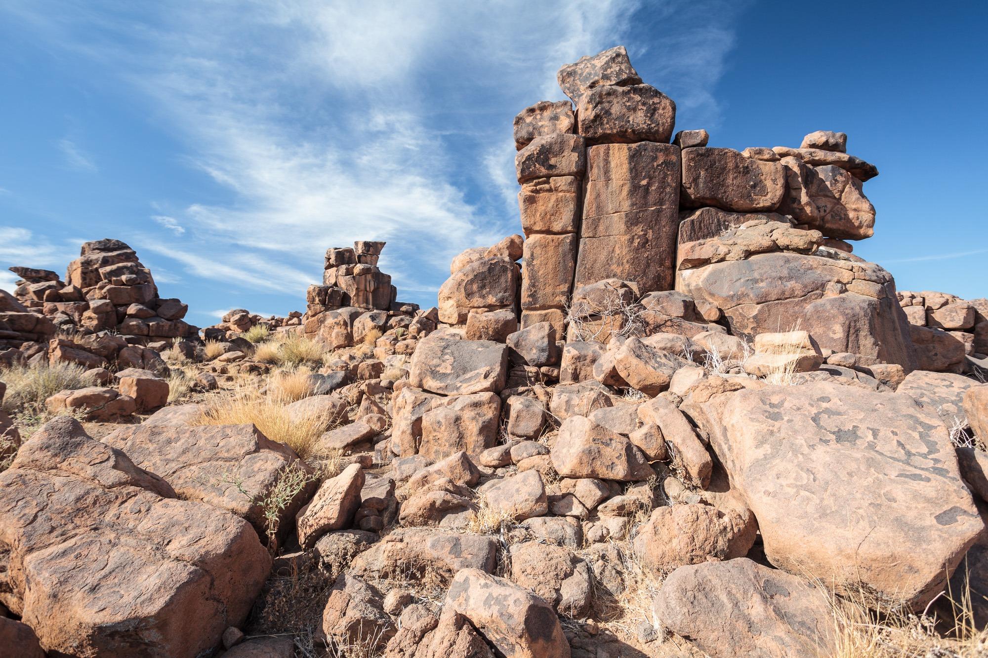 Felsen des Giants Playground Namibia