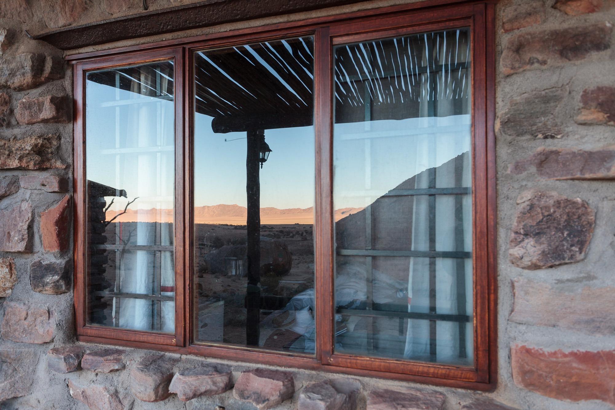 Fenster Chalet Eagle's Nest Sonnenaufgang