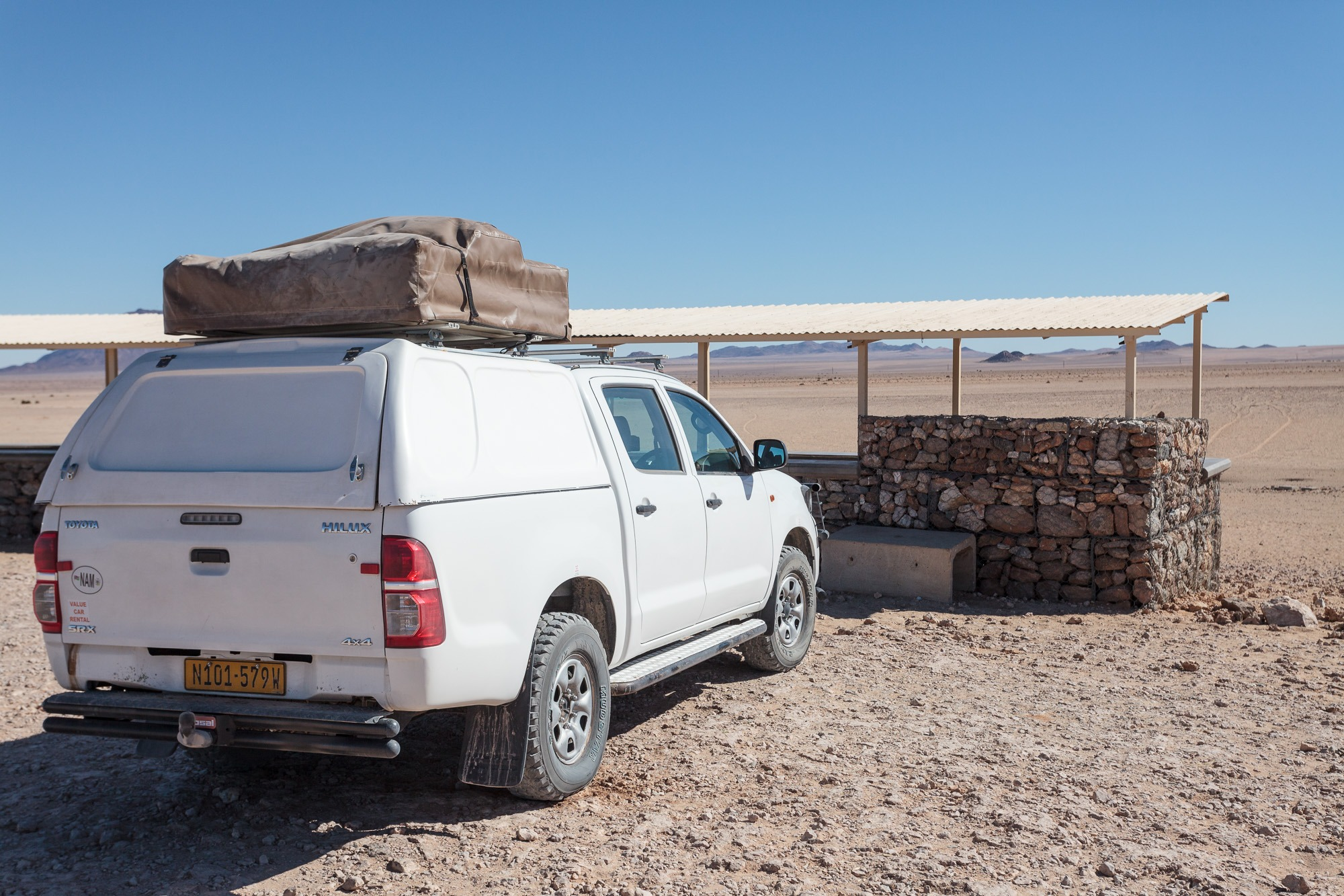 Hide in Garub für die Wildpferde in der Namib Wüste in Namibia
