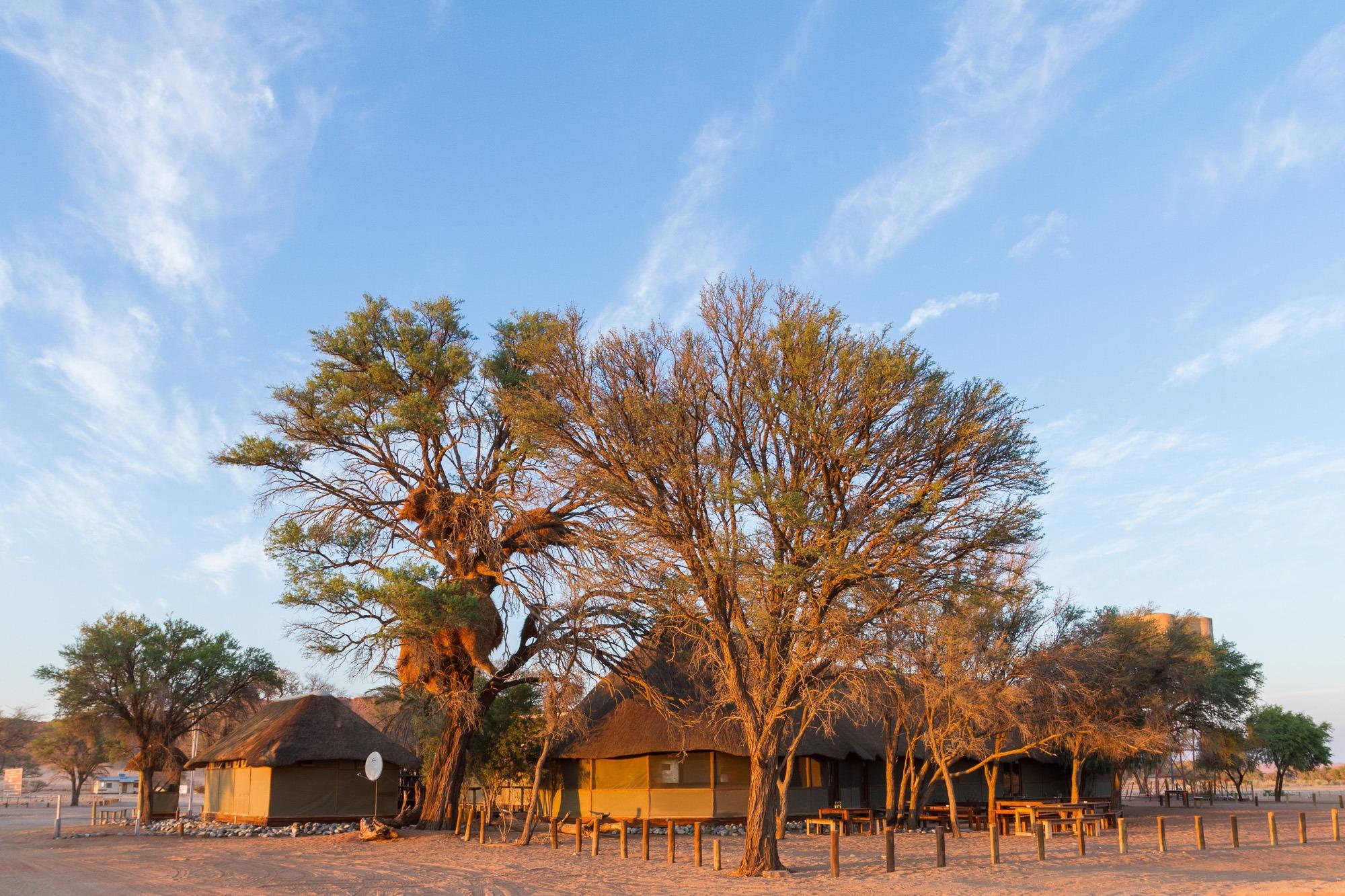 Restaurant und Rezeption Sesriem Rest Camp in Namibia