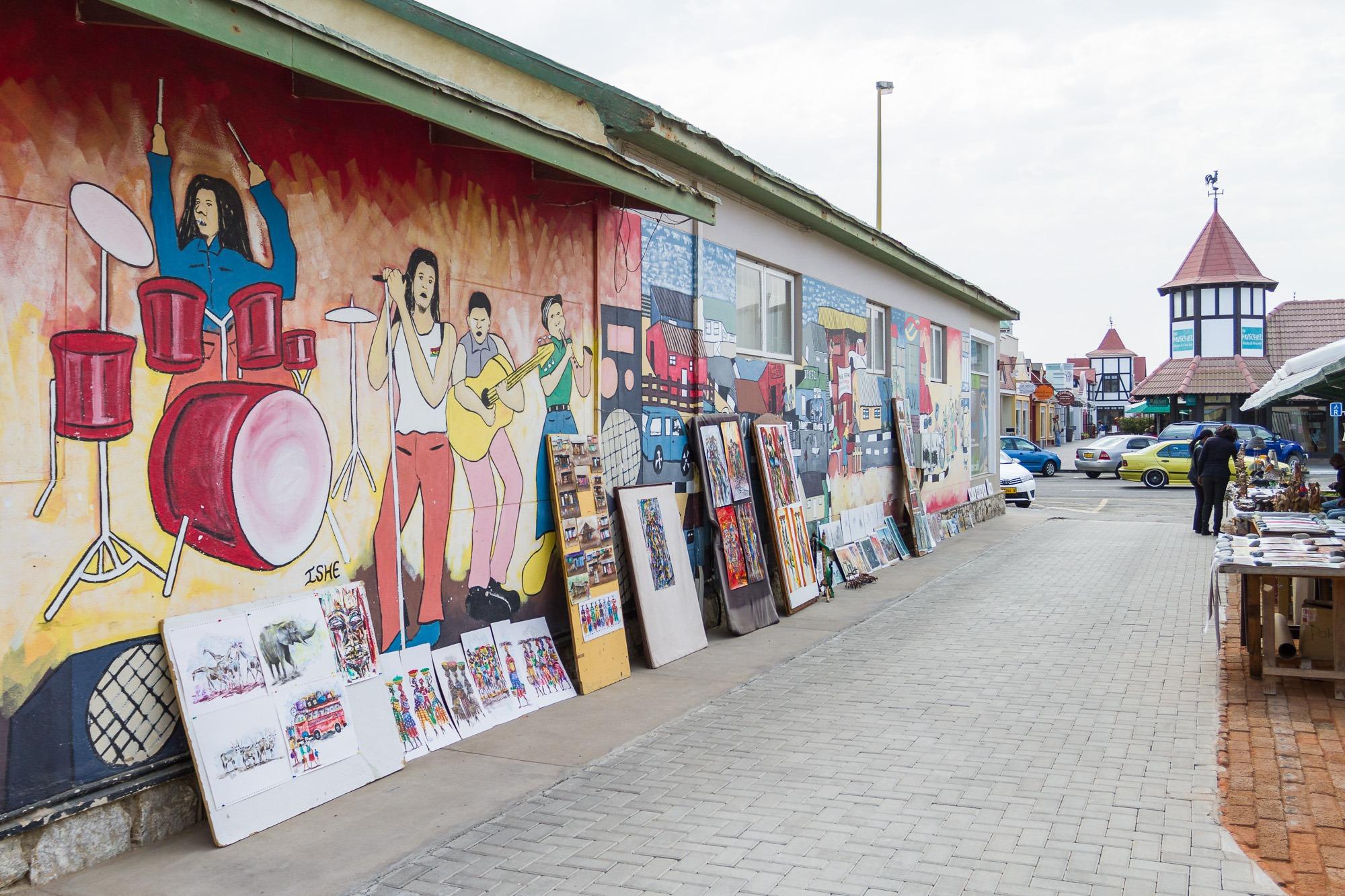 Bemalte Hauswand in Swakopmund Namibia