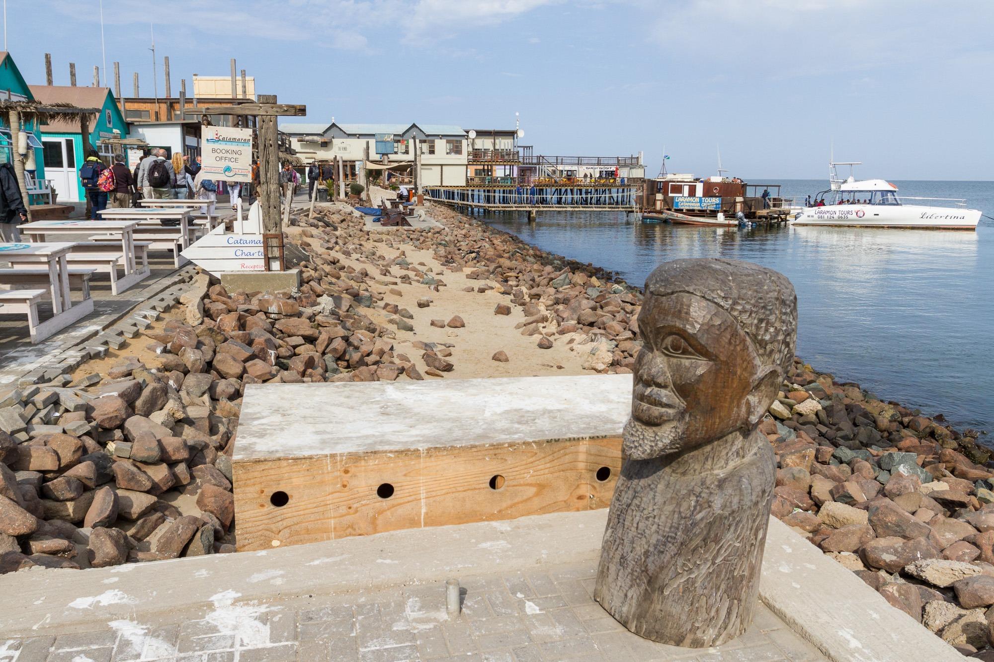 Hafen für Katamaran Touristen Ausflügen in Walvis Bay Namibia
