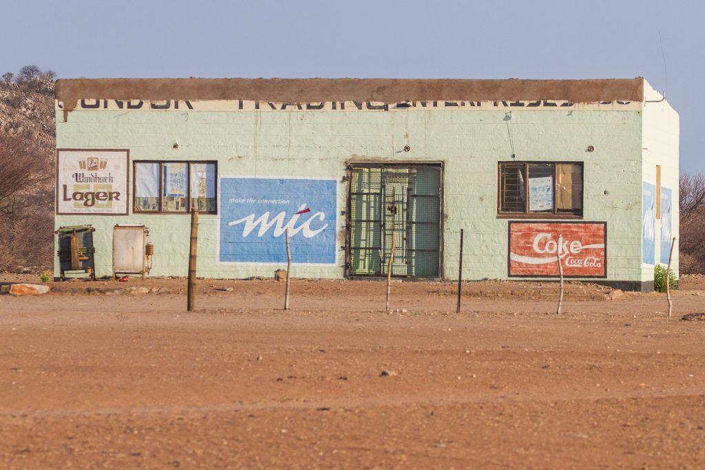 Afrikanischer Supermarkt in Namibia
