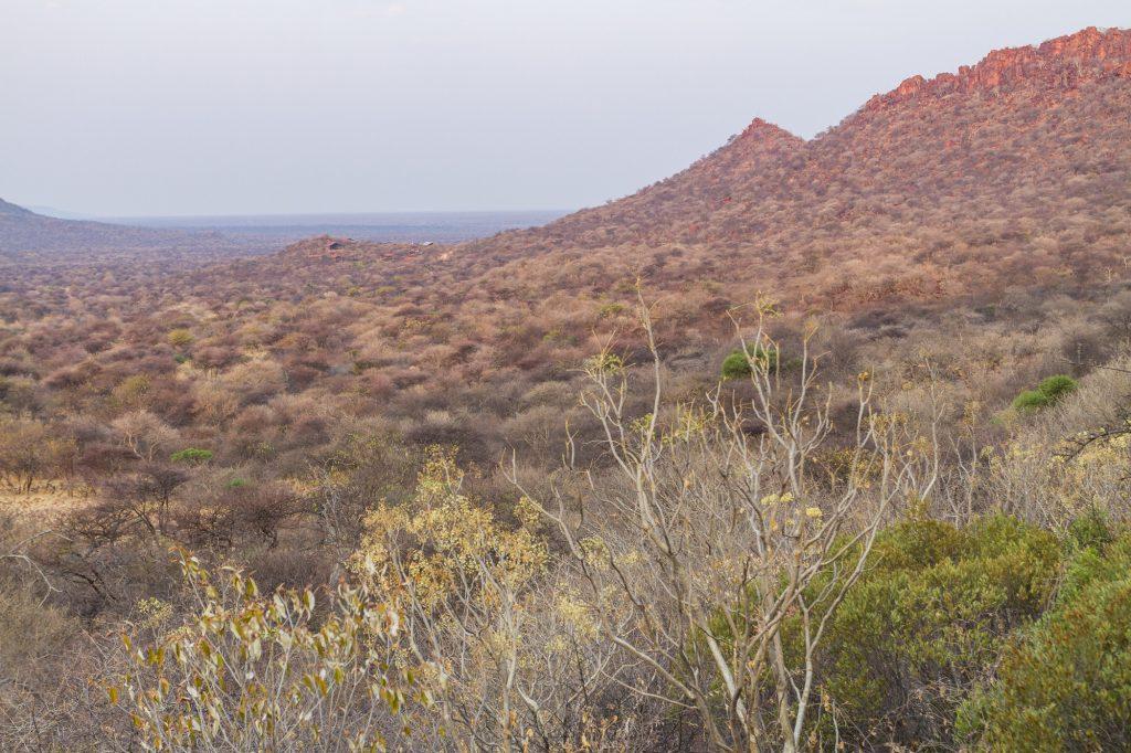 Aussicht vom Campingplatz des Waterberg Plateau Campsite in Namibia