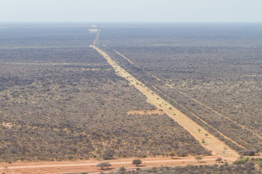Aussicht auf die Kalahari vom Waterberg Plateau Nationalpark Namibia