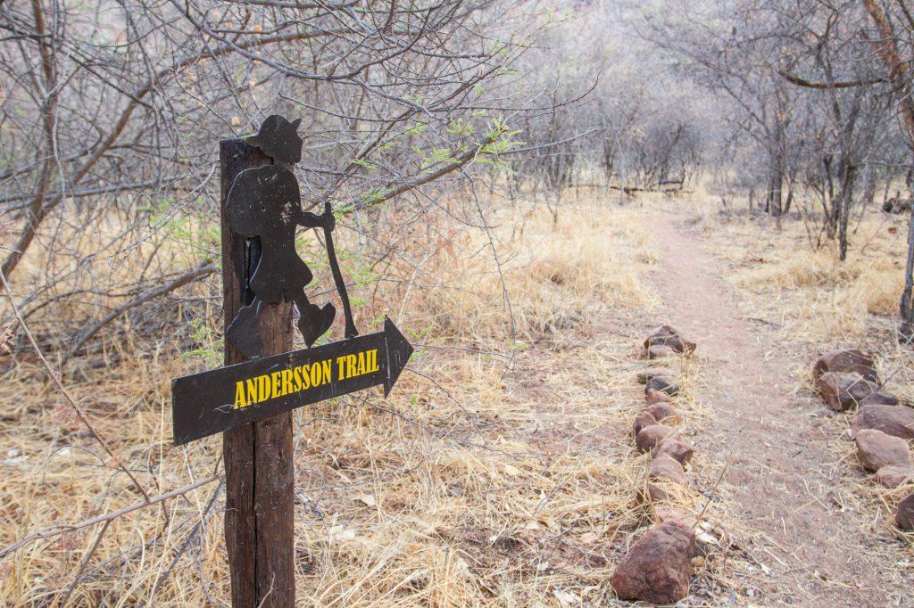 Beginn des Andersson Trail auf dem Campingplatz des Waterberg Plateau Campsite in Namibia