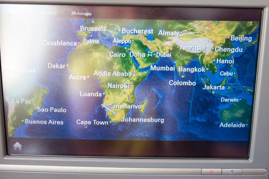 Übersichtskarte Flug Vordersitz