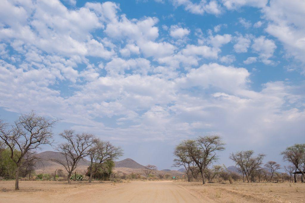Zufahrt zur Duesternbrook Guest Farm in Namibia