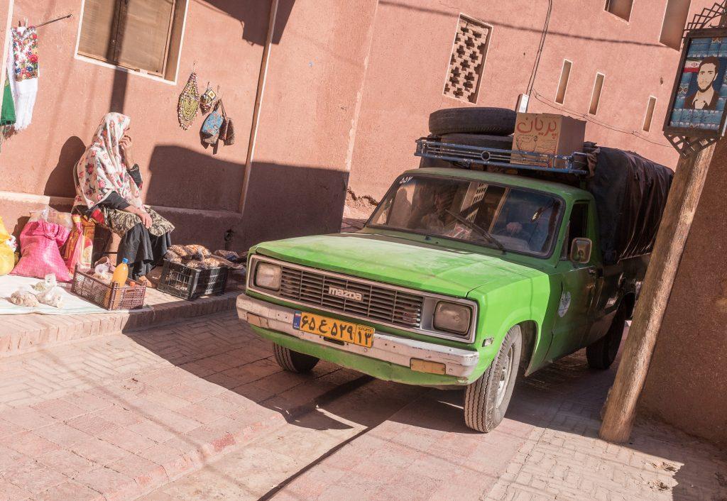 Fahrzeug in Abyaneh