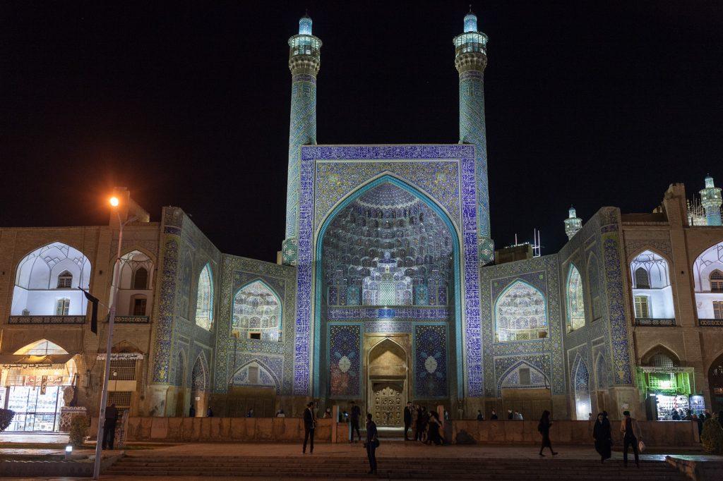 Shah Mosque bein Nacht