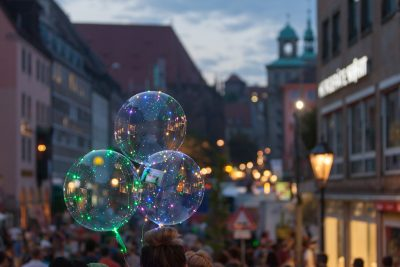 Bunte LED Luftballons